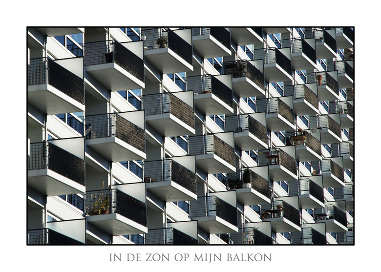 Zon op mijn balkon - Gemaakt in Rotterdam
