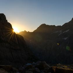 Sunrise Behind The Mountain