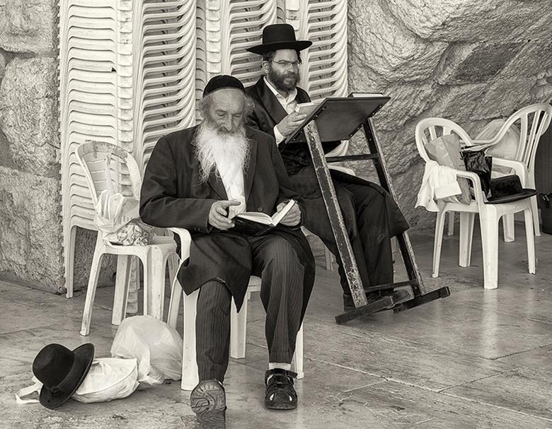 Voorbereiding voor de Klaagmuur in Jeruzalem
