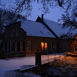 Early in the morning...sneeuw in de polder