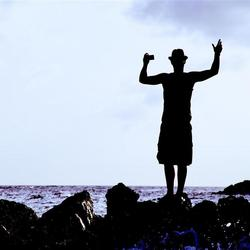 Foto, zee, rots