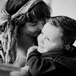 Mama en zoon