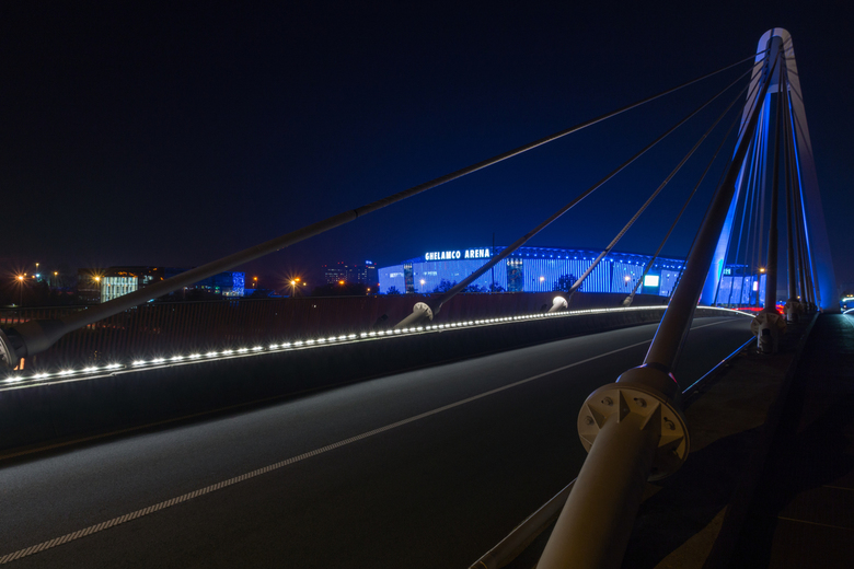 Ghelamco Arena vanop brug - Gent - Ottergembrug & Ghelamco Arena - Gent