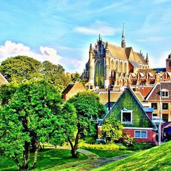 HDR Hoogelandse kerk en stukje van Leiden