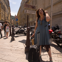Lady in Nice waiting