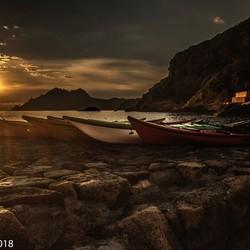 Zonsondergang Porto, Corsica