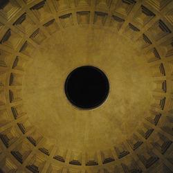 Plafond van het Pantheon in Rome