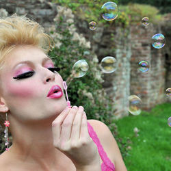 Barbie with bubbles