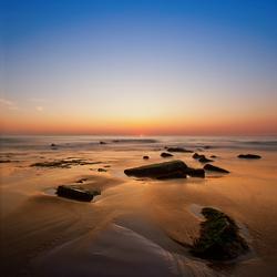 Oostende zonsondergang