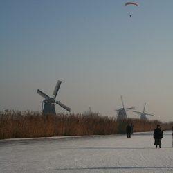 Winters Kinderdijk