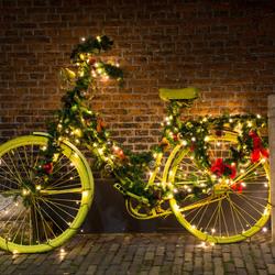 Gele Kerstfiets