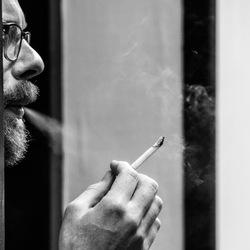Having a smoke