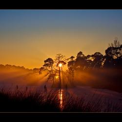 Schaatsen tot zonsondergang