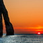 Zonsondergang in Etretat
