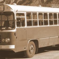 Oude bus voor Ina