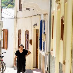 Walking the tiny streets of Mandraki, Nisyros.
