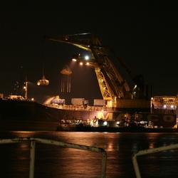 schip in Haven Rotterdam