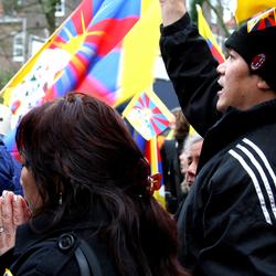 Tibet herdenking in Den Haag