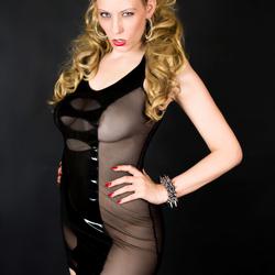 Model in Black Latex