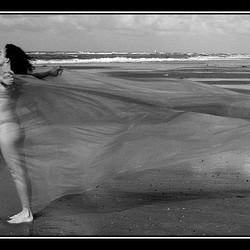 Isa on the beach