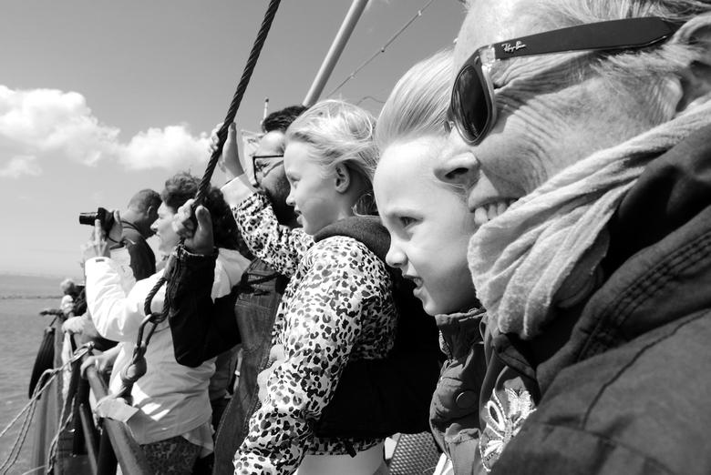 """Zeehonden kijken - Zeeland - Foto van mijn familie die zeehonden in de smiezen hebben <img  src=""""/images/smileys/wilt.png""""/>."""