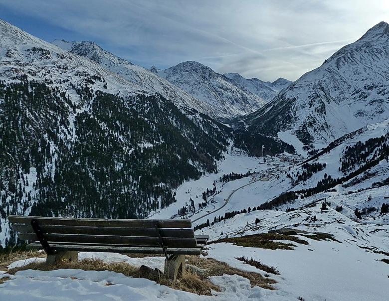 zicht op Vent - Het is inmiddels aardig wit in de alpen (vooral Oostenrijk), dus vind het wel leuk om een winterse upload vandaag te plaatsen.<br />