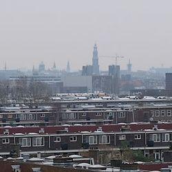 Grauwe dag in die stad.