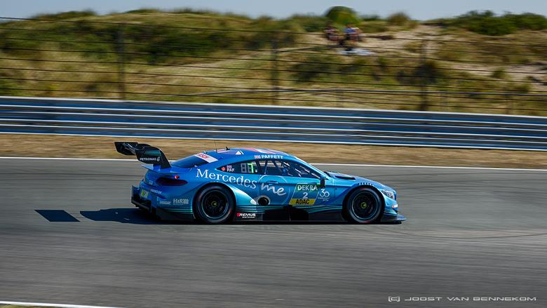 DTM races Zandvoort - Afgelopen weekend vonden de spectaculaire DTM races plaats. Deze bolide met Paffett als piloot is na een hete strijd uiteindelij