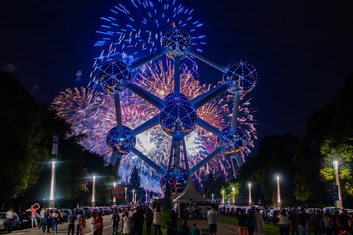 Vuurwerkshow Atomium Brussel
