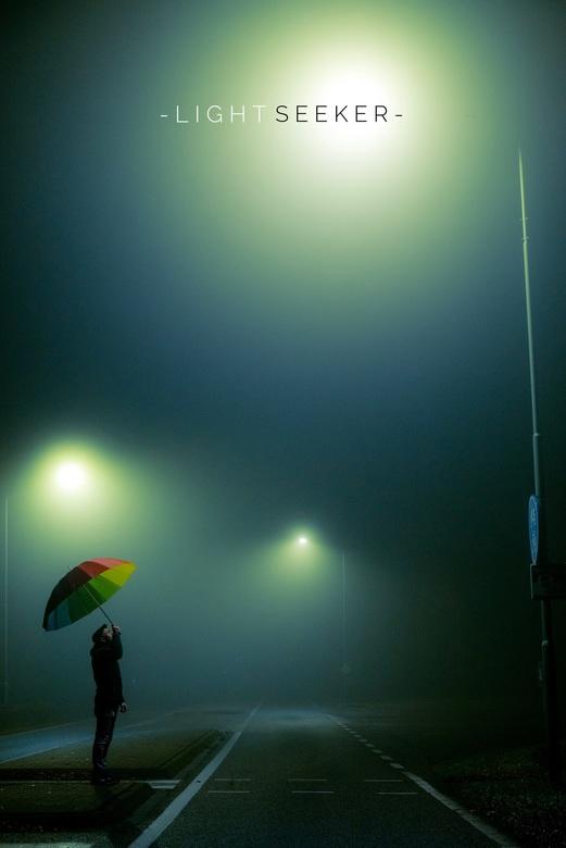 Lightseeker - Op een mistige avond een spontaan idee.