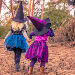 heksjes in het bos