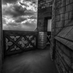 Spooky at great heights in the tower.