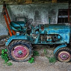 Versleten Tractor