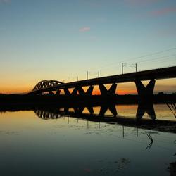 Spoorbrug over de IJssel