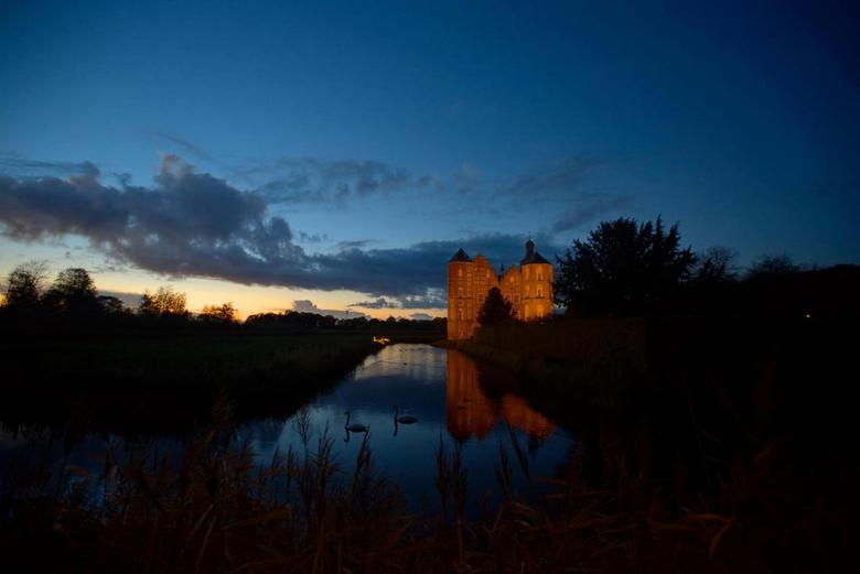 kasteel Croy  - Kasteel Croy gefotografeerd op het blauwe kwartiertje, blijft een mooi verschijnsel.
