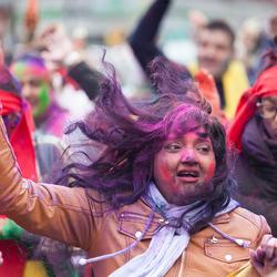 Holi viering in Den Haag