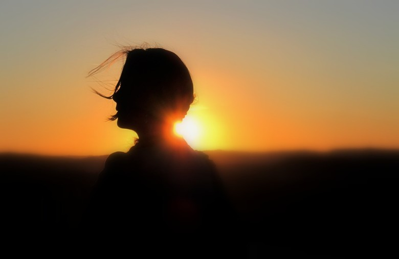 Sunset girl.