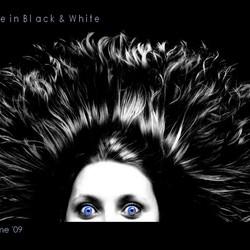 Blue in black & White