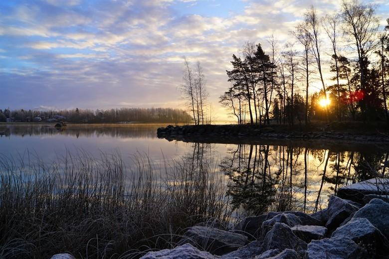 zonsopkomst - gelukkig hoeven we smorgens niet zo heel vroeg op voor de zonsopkomst zeker als het koud is is dat wel fijn.<br /> dus hier een zonsopk