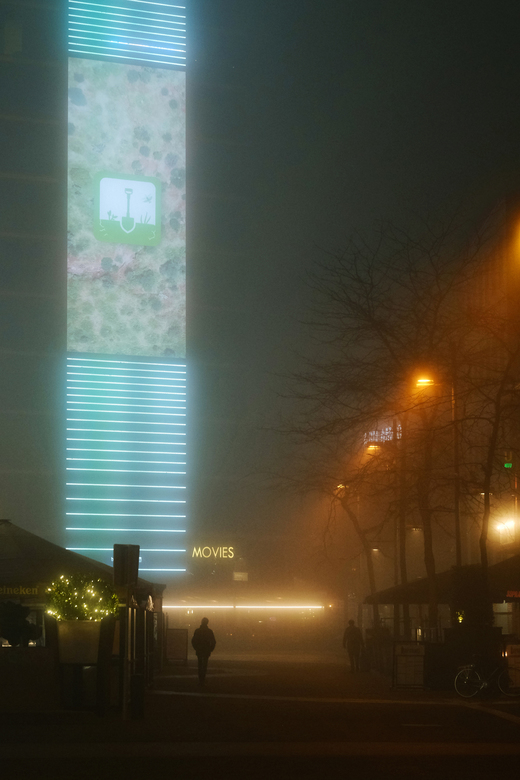 Fog in the city -