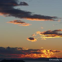 Vandaag na bijna een dag regen een prachtige zonsondergang