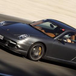 Porsche op snelheid