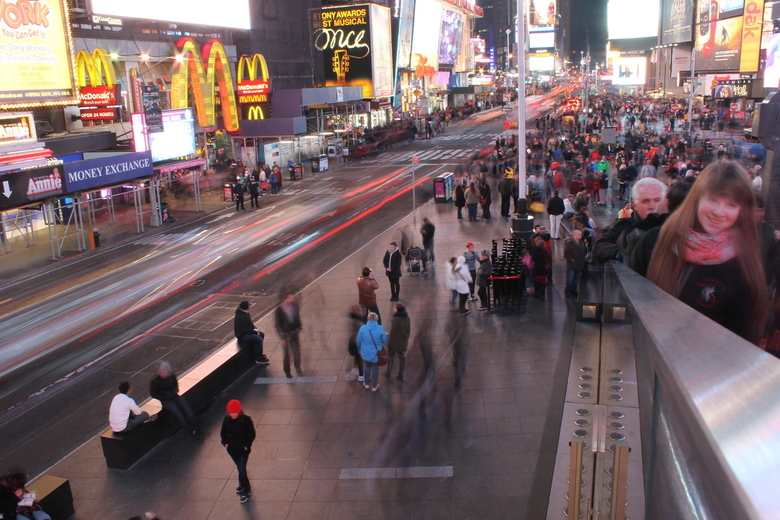 Drukte op times square. - Pauze genomen om de drukte vast te leggen op Times Square.