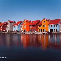 201403091311 Gekleurde huizen wijk Reitdiephaven Groningen