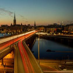 Stockholm - Centralbron - Riddarholms kyrkan - Stadhuis
