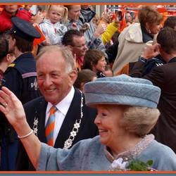 Koningin Beatrix en Burgemeester Schouwenaar