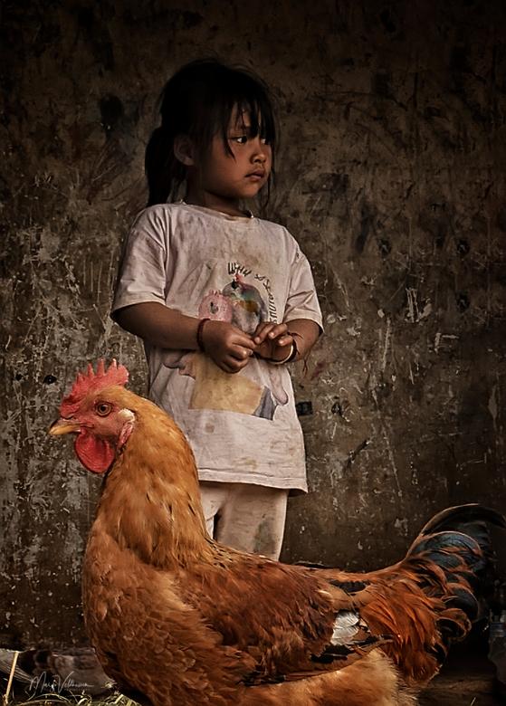 Little girl - Bij een familie thuis in een klein dorp in Yunnan, China