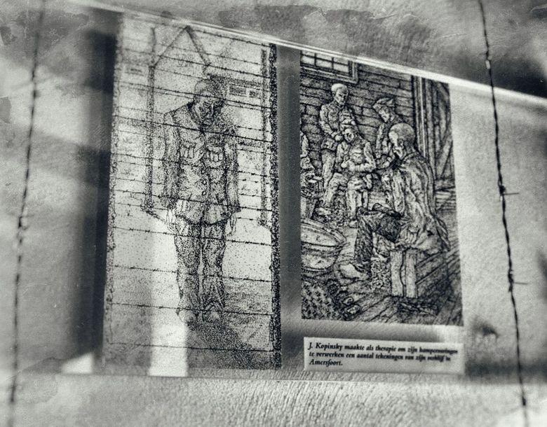 Vandaag weer vele herinneringen...  .  - KAMP AMERSFOORT -  . . . . maar die nooit vergeten mag worden.<br /> <br /> Tekeningen van de gevangenen al