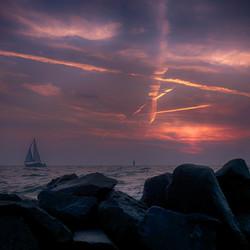 zonsondergang markermeer