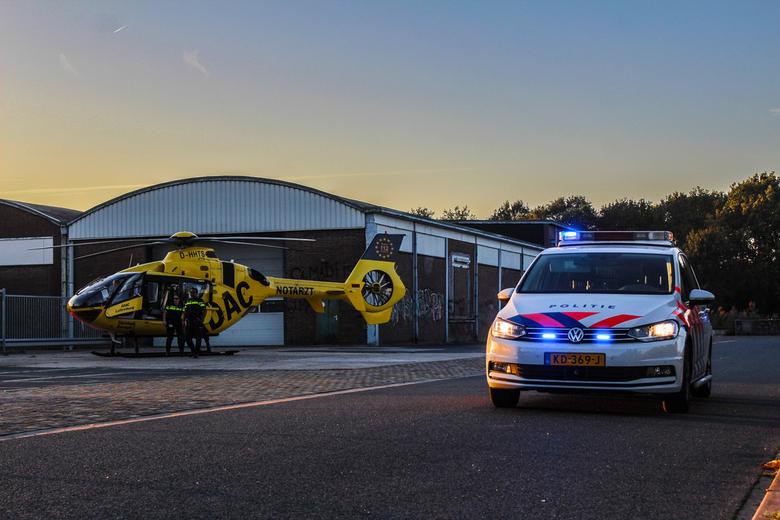 Christoph Europa 2 met politiewagen - Het blijft mooi om te zien hoe de hulpdiensten in de grensgebieden elkaar assisteren.